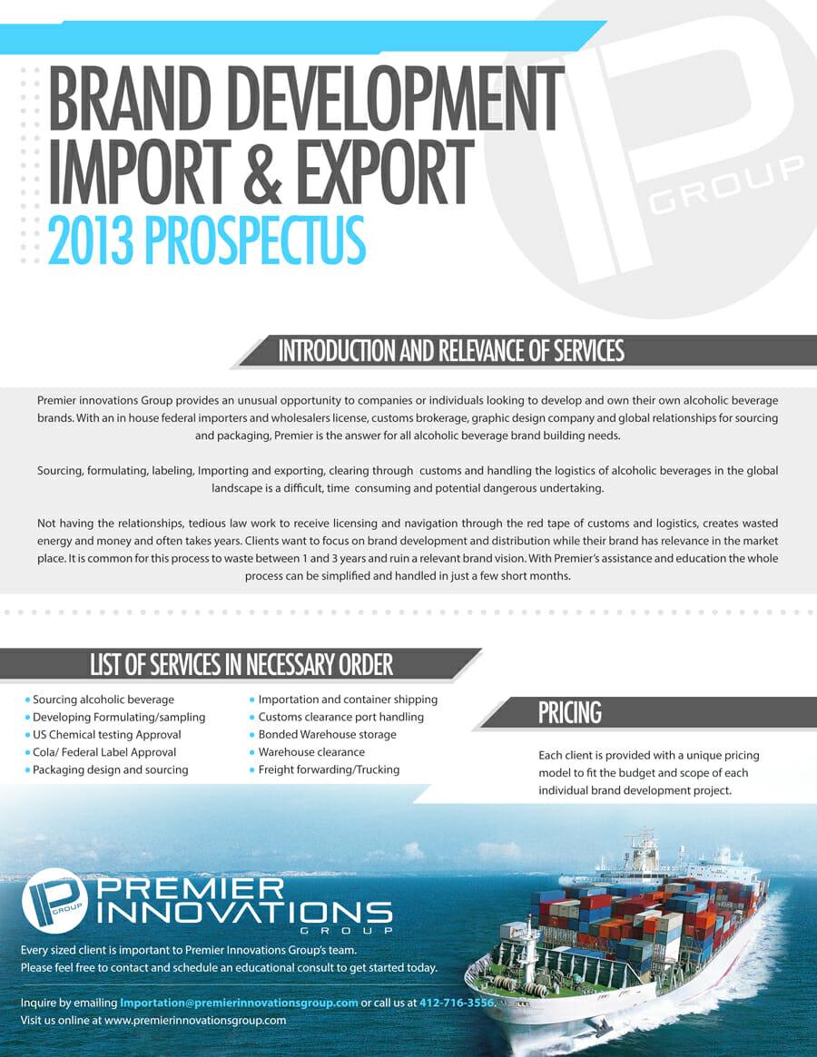 Brand Development Import & Export 2013 Prospectus