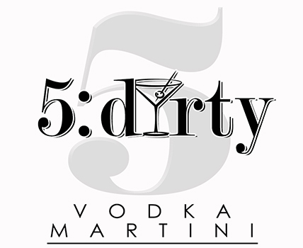 5:dirty Vodka Martini Logo