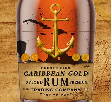 Caribbean Gold Rum Logo